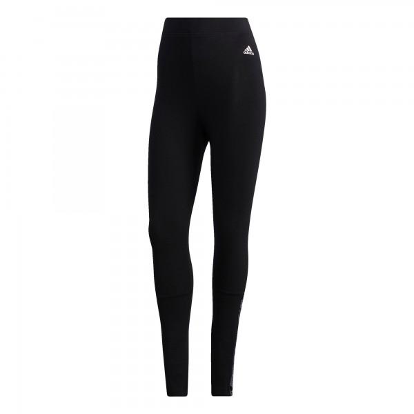 Adidas Damen Essential Tape High-Rise Tight Leggings schwarz-weiß