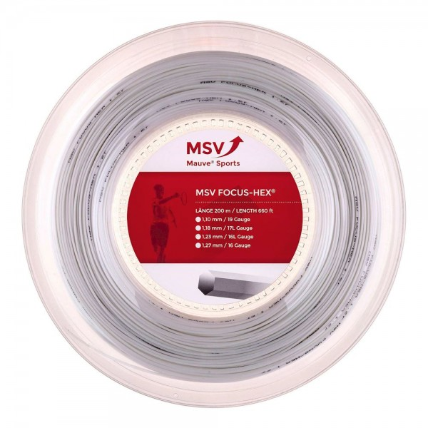 MSV Focus Hex weiss 200 Meter Tennissaite