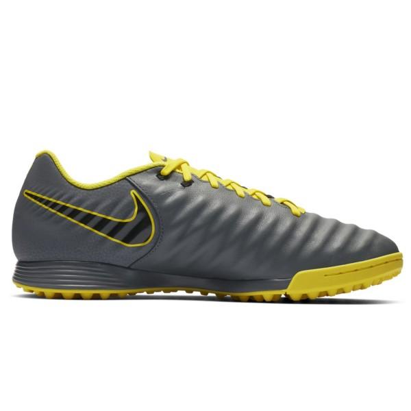 Nike Herren Tiempo Legend X Academy Fussballschuh grau-gelb-schwarz