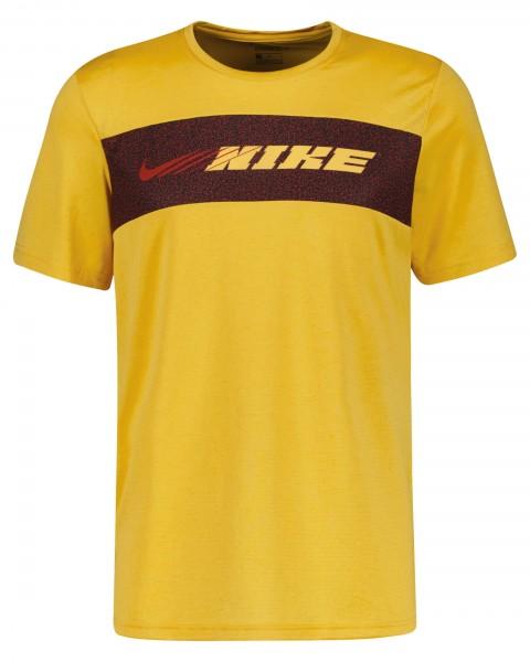 Nike Herren Dri-Fit Superset Trainingsshirt Funktionsshirt solar flare-citron pulse