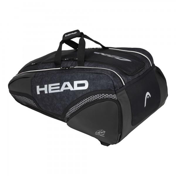 Head Djokovic 9R Supercombi Tennis Tasche schwarz-weiß