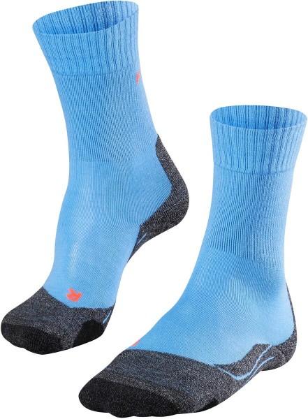 Falke Damen Trekking Socken Outdoor Strümpfe TK 2 blau-grau