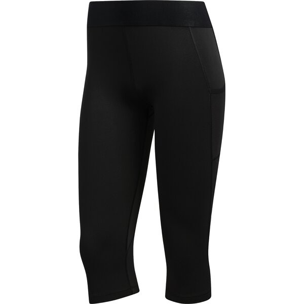 Adidas Damen Techfit Capri Tight Leggings schwarz-weiß