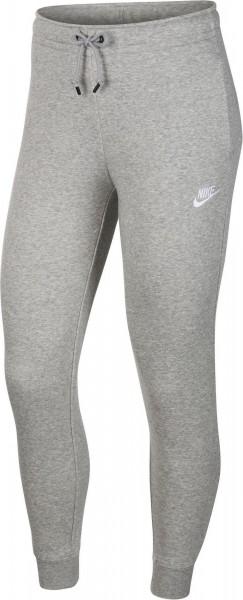 Nike Damen NSW Essential Trainingshose Sporthose grau-weiß