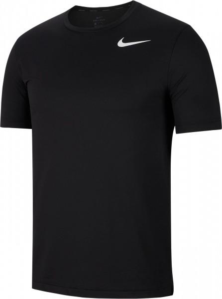 Nike Herren Hyper Dry Trainingsshirt Laufshirt schwarz-weiß