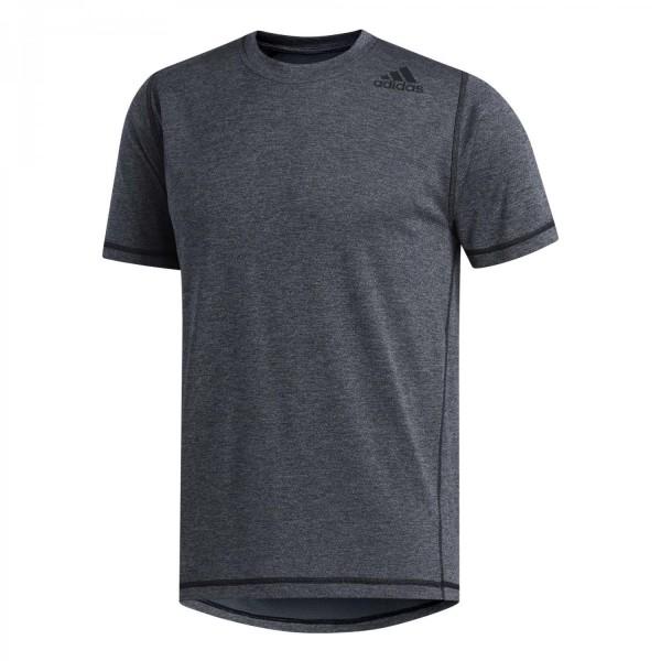 Adidas Herren Freelift Tee Trainingsshirt Funktionsshirt schwarz melange