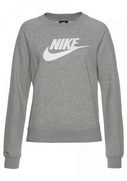 Nike Damen Essential Sweatshirt Pullover grau