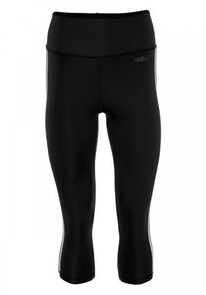 Adidas Damen Design to Move 3 Stripes Leggings 3/4 Tight schwarz-weiß