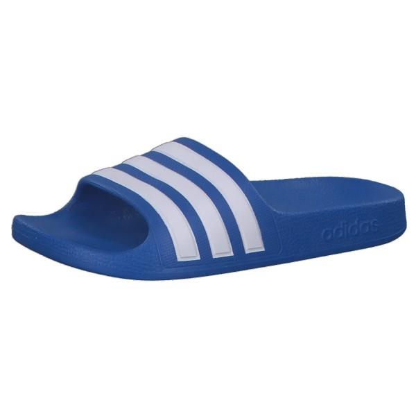 Adidas Kinder Aqua Core Adiletten Badelatschen blau-weiß