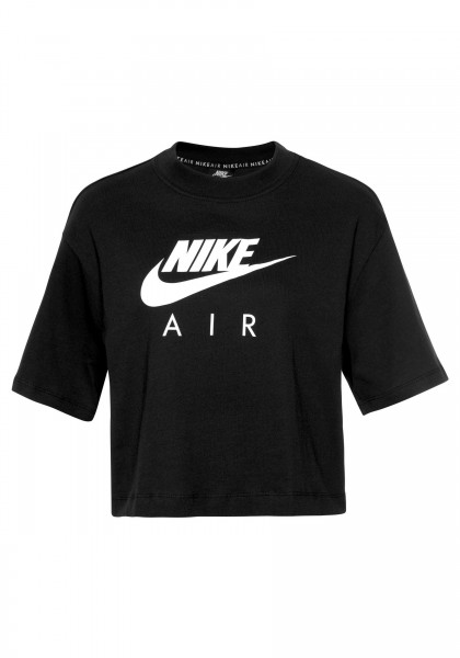 Nike Damen Air Sportswear Top Shirt schwarz-weiß