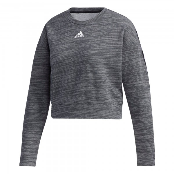 Adidas Damen Essential Tape Sweatshirt Pullover dunkelgrau