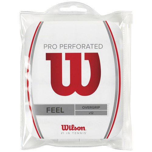 Wilson Pro Overgrip Perforated 12er Pack Weiß
