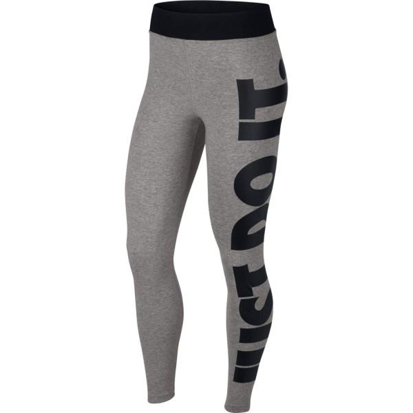 Nike Damen Tight Sport Leggings Just Do It grau