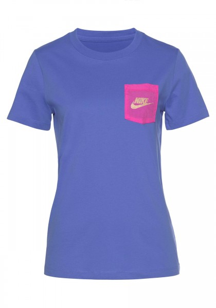 Nike Damen Icon Clash T-Shirt blau-pink