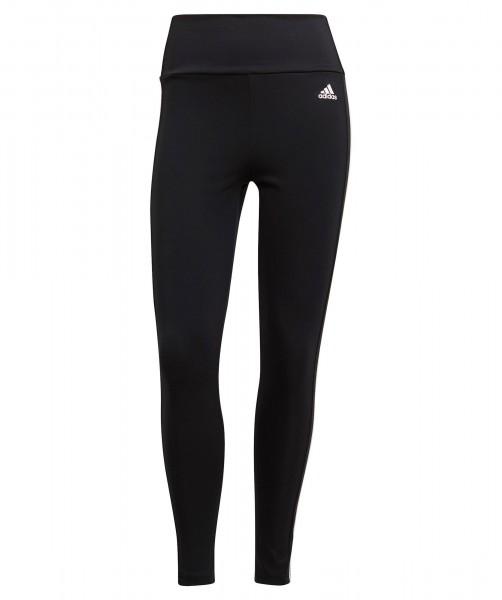 Adidas Damen Design To Move High Rise 3-Streifen 7/8 Tight Leggings schwarz-weiß