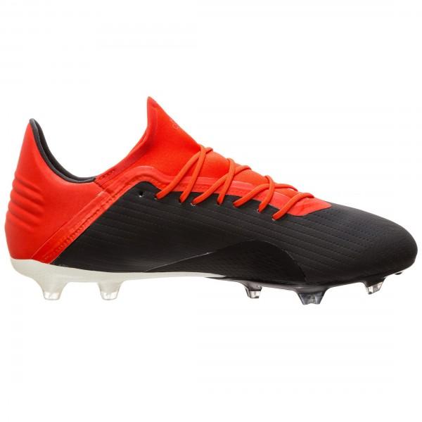 Adidas Herren X 18.2 FG Fußballschuh schwarz-rot-weiß