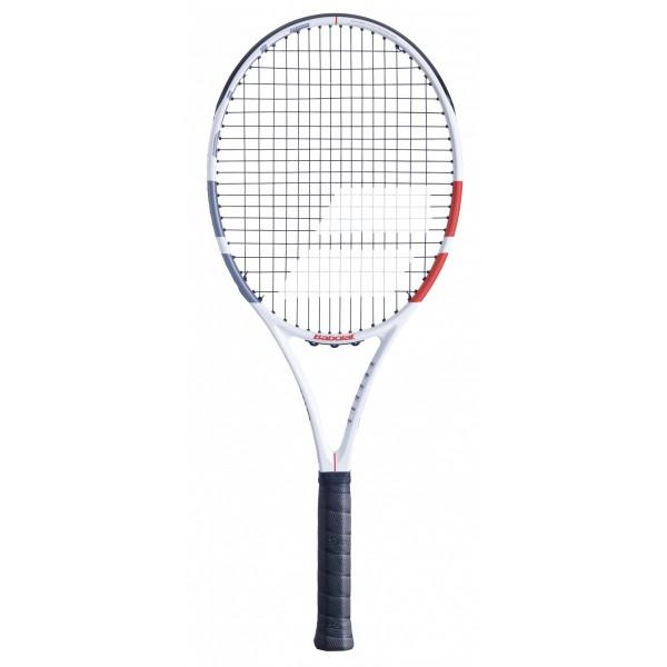 Babolat Strike Evo Tennisschläger unbesaitet weiß-rot-schwarz