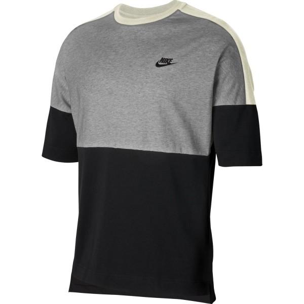 Nike Herren Sportswear T-Shirt schwarz-dunkelgrau