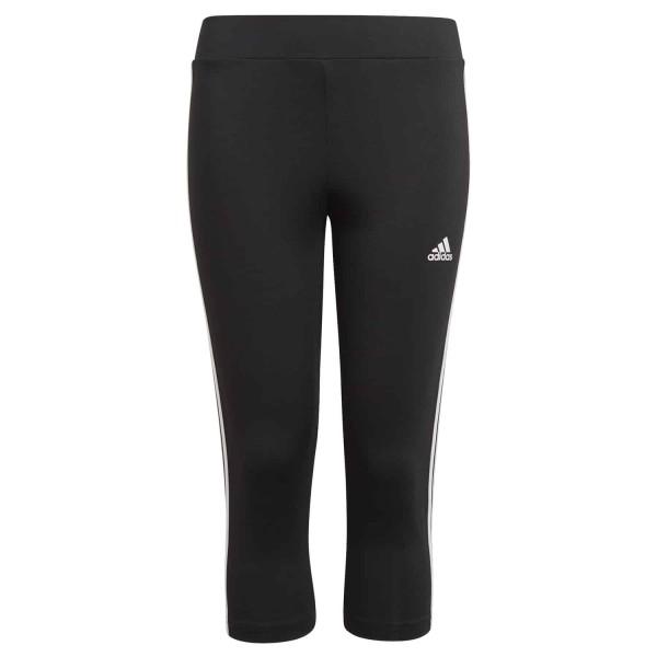 Adidas Mädchen Design To Move 3-Streifen 3/4 Tight Leggings schwarz-weiß