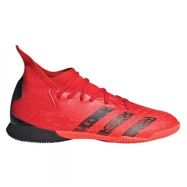 Adidas Kinder Predator Freak 3 Fußballschuh Hallenschuh rot-schwarz