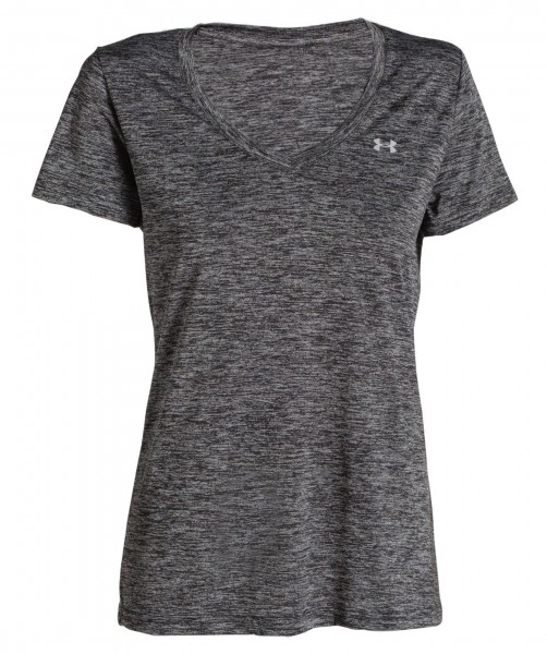 Under Armour Damen Twist Tech T-Shirt Funktionsshirt schwarz-metallic silber
