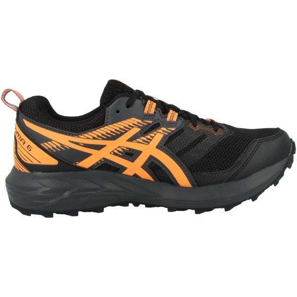 Asics Damen Gel-Sonoma 6 G-TX Laufschuh Trail Runningschuh schwarz-orange