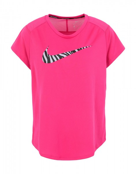 Nike Damen Run Icon Clash Lauf Oberteil Trainingsshirt pink/lila