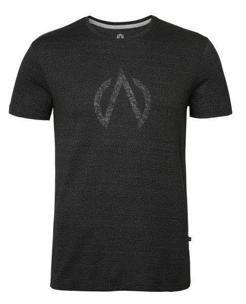 North Bend Herren Exo Wool Tee T-Shirt schwarz melange