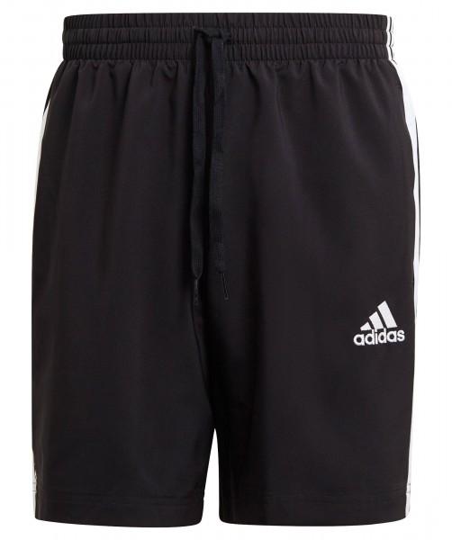 Adidas Herren Aeroready Essential 3-Streifen Chelsea Fitnessshort Trainingsshort schwarz-weiß