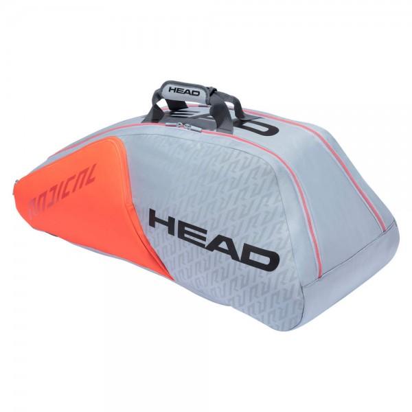 Head Radical 9R Supercombi Schlägertasche Tennis Tasche grau-orange