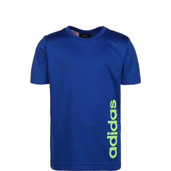 Adidas Jungen Linear T-Shirt Funktionsshirt blau