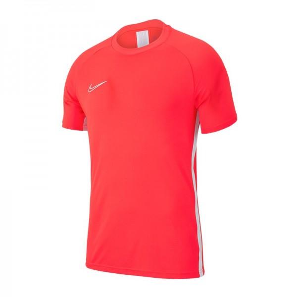 Nike Herren Dri-Fit Academy 19 Trainingsshirt/ Fussballshirt kurzarm neonrot weiß