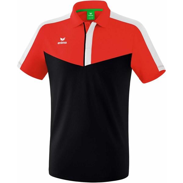 Erima Herren Squad Funktion Poloshirt rot-schwarz-weiß