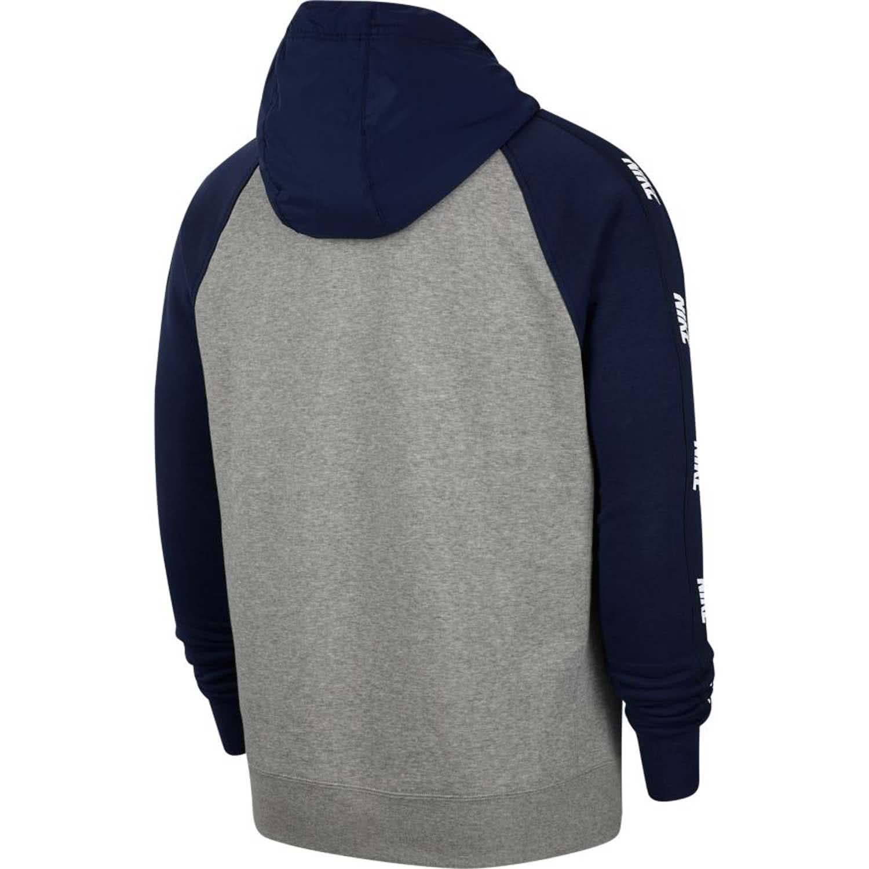 Nike Herren Sportswear Full Zip Hoodie Kapuzenjacke blau grau