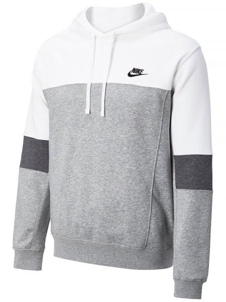 Nike Herren Sportswear PO French Terry Hoodie Kapuzenpullover grau-weiß