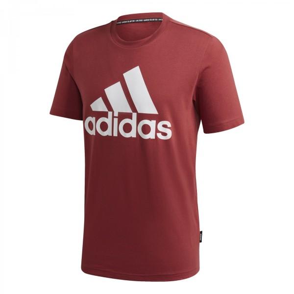 Adidas Herren Must Have Badge of Sport T-Shirt Freizeitshirt weinrot