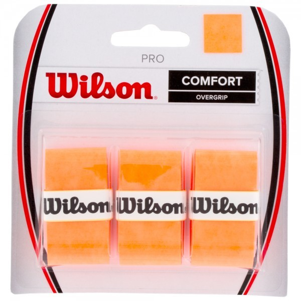 Wilson Pro Comfort Overgrip orange 3er