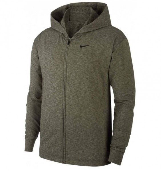Nike Herren Yoga Trainingsjacke Dri Fit oliv/grau