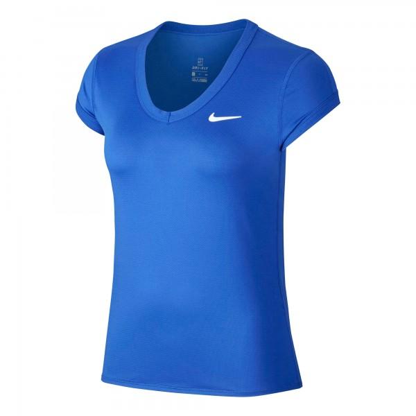 Nike Damen Court Dri-Fit T-Shirt royale-white