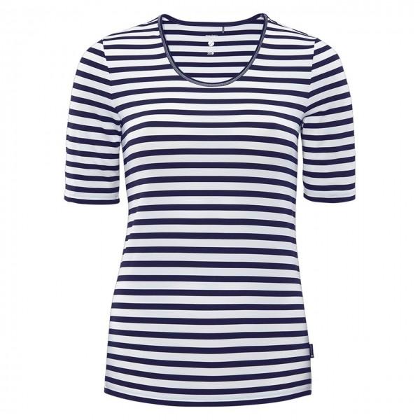 schneider sportswear Damen DESYW-Shirt Freizeitshirt weiß-dunkelblau