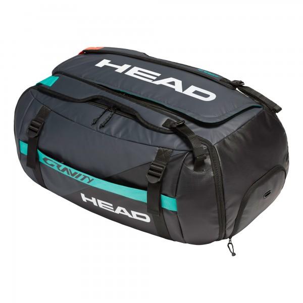 Head Gravity Duffle Bag Tennis Tasche schwarz-rot-türkis