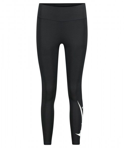 Nike Damen Swoosh Run Lauftight Leggings schwarz-weiß