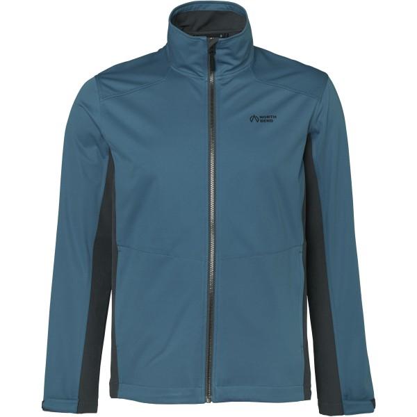 North Bend Herren Softshell Outdoor Jacke blue slate