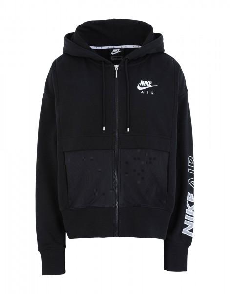 Nike Damen Sportswear Air Sweatjacke Kapuzenjacke schwarz-weiß