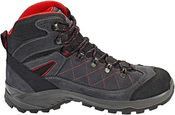 High Colorado Herren Gaebris MID HT Trekkingschuh Outdoorschuh Wanderschuh schwarz-grau-rot