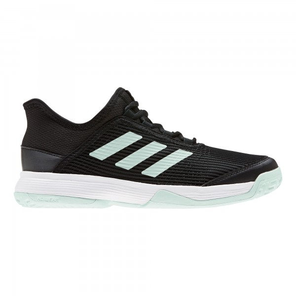 Adidas Kinder Adizero Club Allcourt Tennisschuh schwarz-mint-weiß