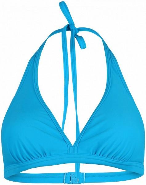 Stuf Damen Solid 1-L Neckholder Bikini Top blau