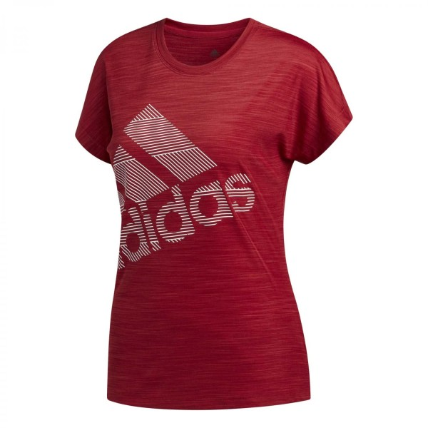Adidas Damen Badge of Sport T-Shirt rot
