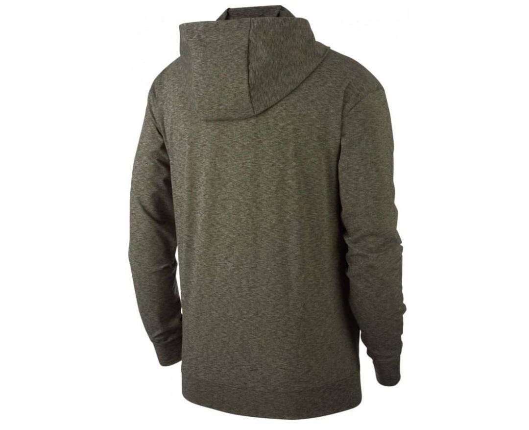 nike dri-fit sweatshirt jacke oliv