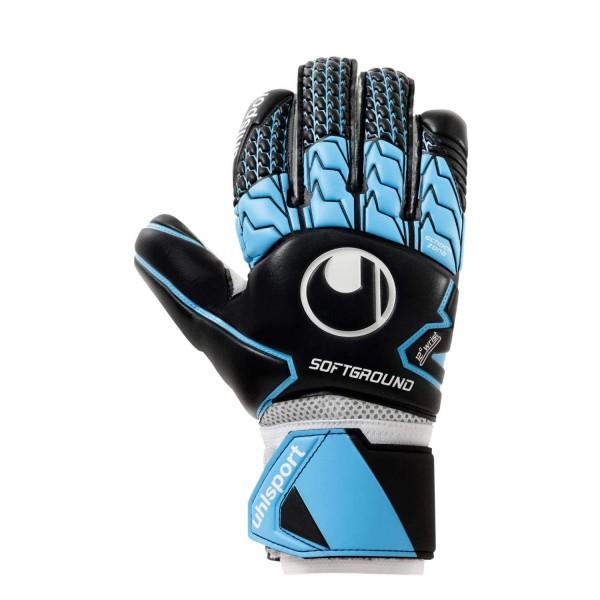 Uhlsport Torwarthandschuhe Soft blau/schwarz